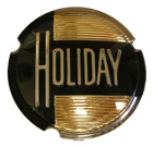 'Holiday' Roof Panel Emblem Plastic Insert, 1952-53 Oldsmobile 98