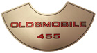 Air Cleaner Decal, 1973-76 'Oldsmobile 455' 4 Barrel