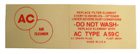 Dry Element Air Cleaner Service Decal (A59C), 1952-55 Cadillac, red