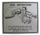 Jack Instruction Decal, 1949-53 Oldsmobile