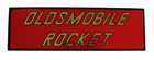 'Oldsmobile Rocket' Foil Air Cleaner Decal, 1957-60 Olds