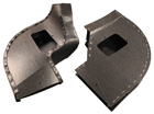 Front Heater Boxes, pair, 1957-58 Cadillac
