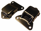 Engine frame mounts (perches), pair, 1968-72 Cutlass & 442 with 455 V8
