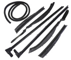 Roof Rail Weatherstrips, 7 piece set, 1959-60 Oldsmobile, Cadillac. Buick convertibles