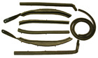 Roof Rail Weatherstrips, 9 piece set, 1954-56 Cadillac conv.