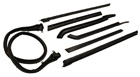 Roof Rail Weatherstrips, 7 piece set, 1965-70 Oldsmobile, Buick, Cadillac convertibles