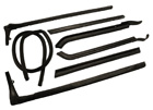 Roof Rail Weatherstrips, 7 piece set, 1965 Oldsmobile, Buick, Cadillac convertibles