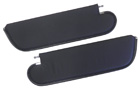 Black sunvisors, pair, 1970-72 Cutlass/442 Coupe, one pin