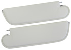 White sunvisors, pair, 1970-72 Cutlass/442 Coupe, one pin