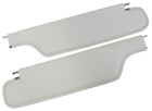 White sunvisors, pair, 1970-72 Cutlass/442 Coupe, two pin