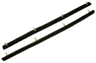Windshield Pillar Weatherstrips, pair, 1954-58 Oldsmobile, 1957-58 Buick and Cadillac